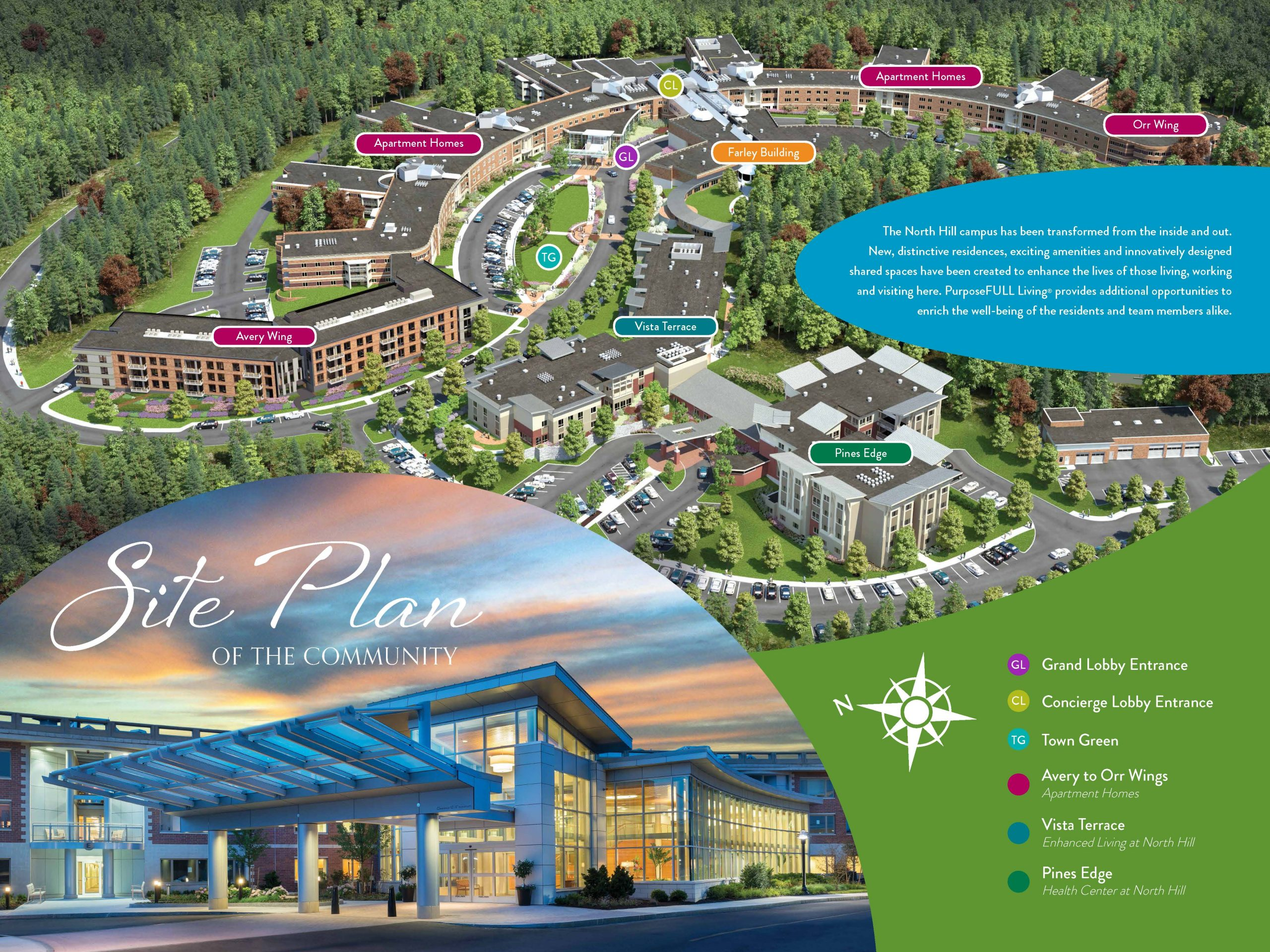 Sales center site plan display example