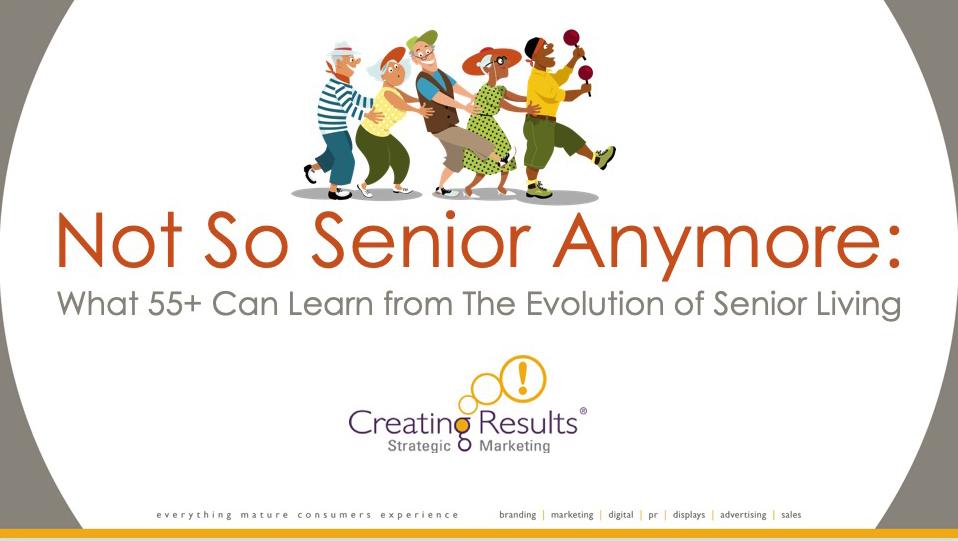 Presentation title slide: Not So Senior Anymore