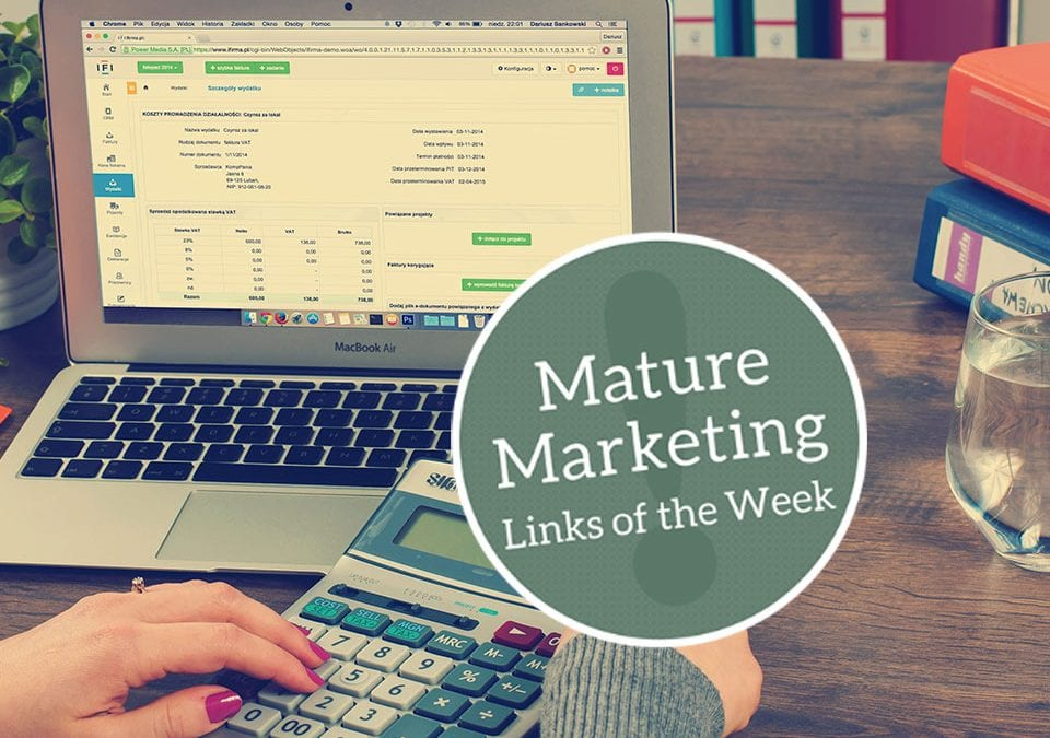 Debt and Sustainability: Mature Marketing Links of the Week