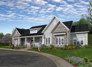 Cranberry Clubhouse Rendering - Front Elevation