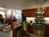 Fairing Way's future residents (over 55 homebuyers) gather for a cooking event.