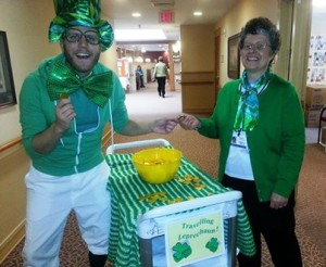Landis Communities employees on Saint Patrick's Day