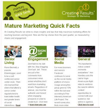Mature Marketing Quick Facts