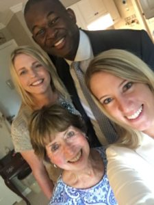 (clockwise from top left) Acts team members Niamh Fabiszewski, Jeremy Neeley and Heather Roller with resident Alicia Peale. Source: Acts Retirement Life Communities