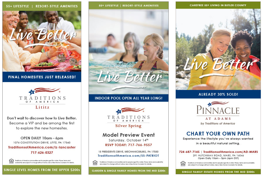 Traditions of America print ads