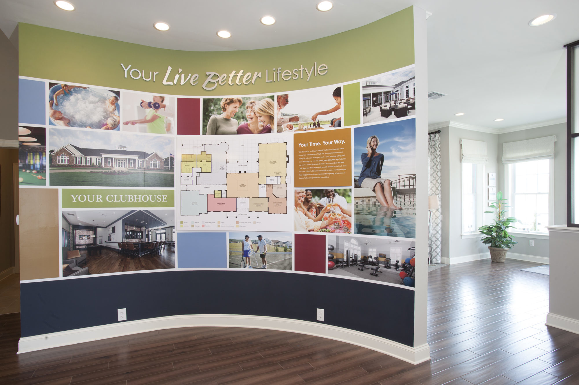Sales center lifestyle display example