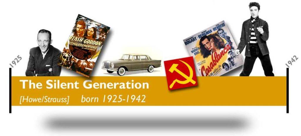 Timeline graphic - US Silent Generation