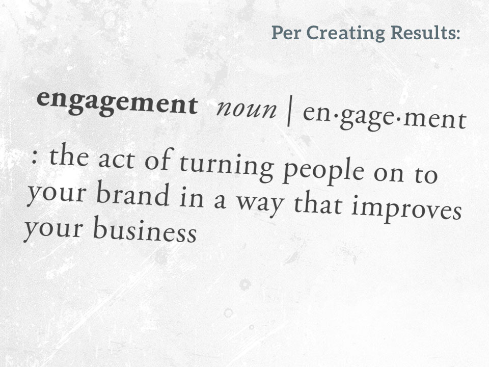 Definition of marketing engagement - Creating Results
