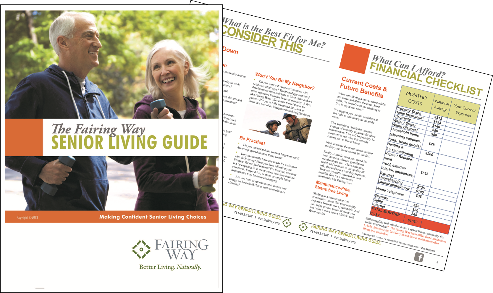 Give CCRC prospects tools to help in their decision, such as a guide to senior living