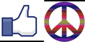 Peace symbol Facebook like icon