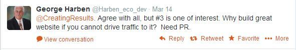 Tweet - pr is needed for web traffic