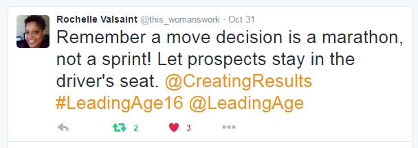 tweet - LeadingAge 2016 Indianapolis