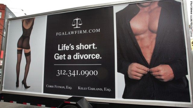 A Chicago billboard for divorce lawyers. Source: CNN.