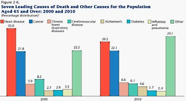 CHART - The seven leading causes of death among elders