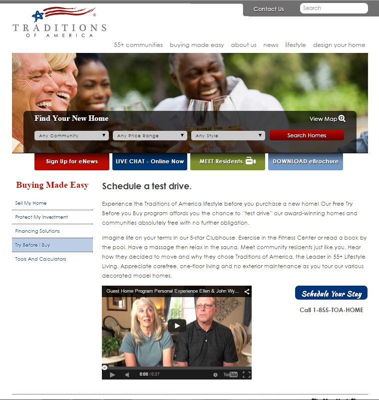 Traditions of America's Guest Stay program is an example of micro yes marketing.