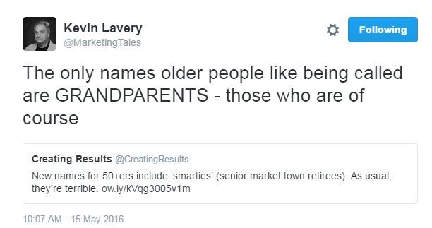 Tweet -names for older people