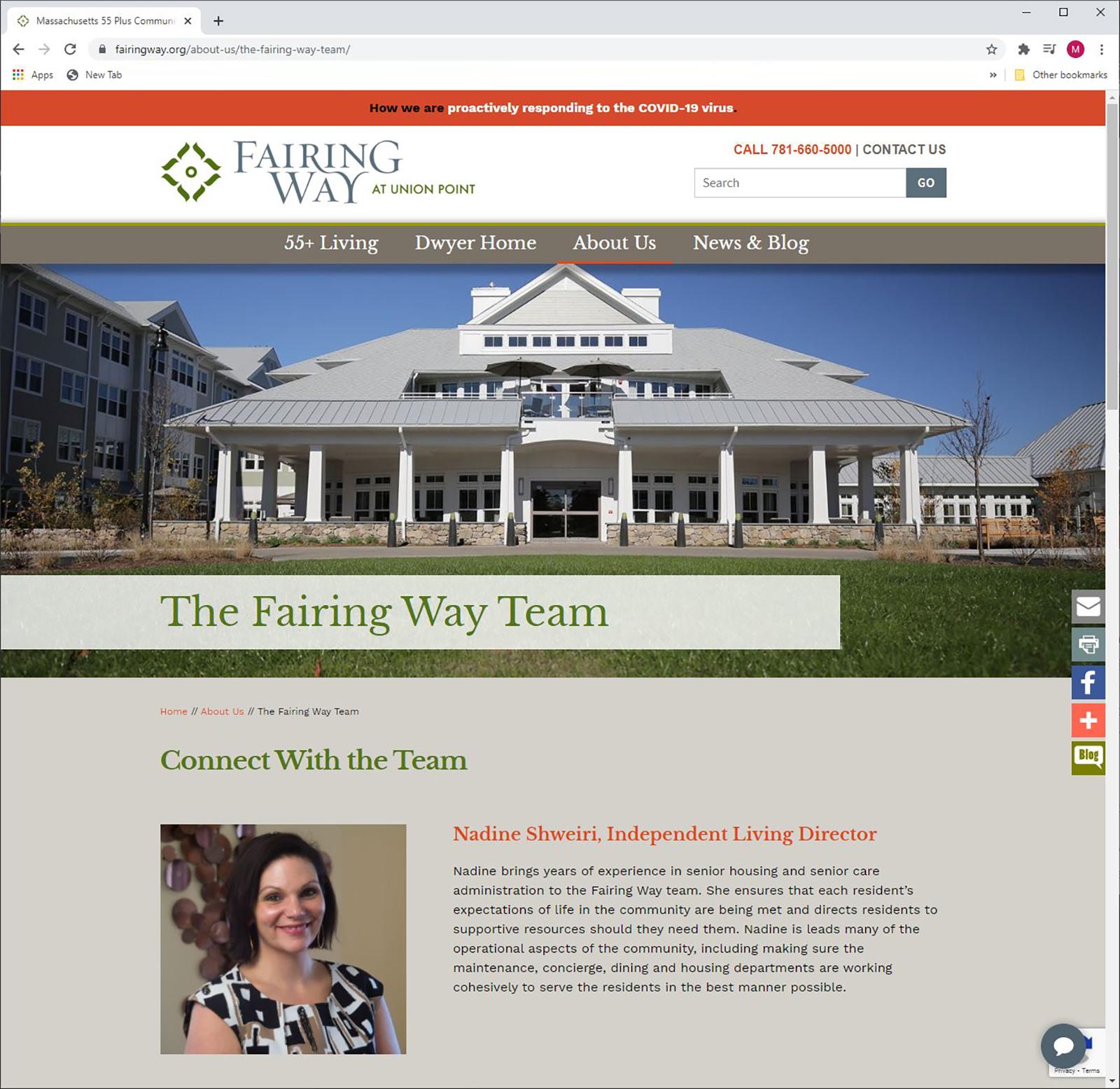 Fairing Way Website -Team page